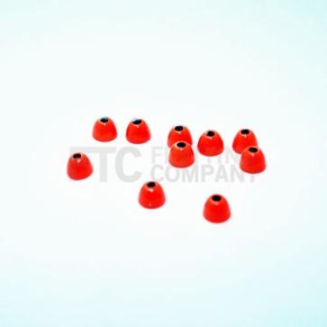 Fluoro Orange Brass Cone Heads
