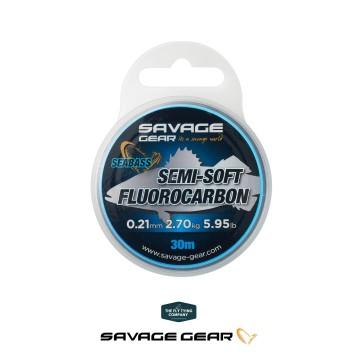 Savage Gear Semi-Soft Fluorocarbon Sea Bass