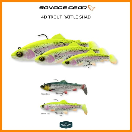 Savage Gear 4D Rattle Shad Trout