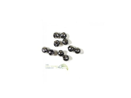 BLACK Slotted Tungsten Beads