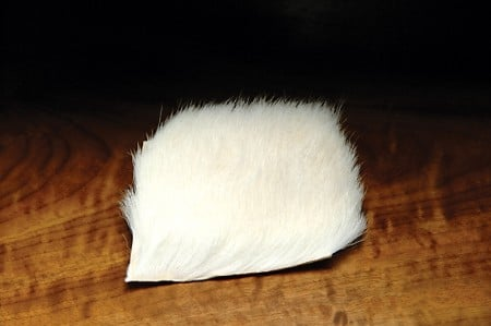 Hareline Calf Body Hair - White