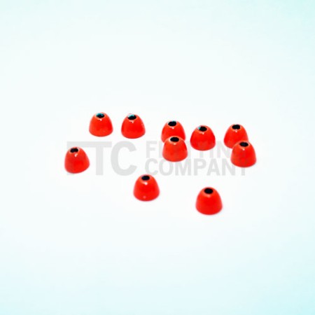 Fluoro Orange Brass Cone Heads