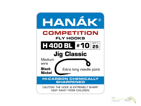 Hanak H400BL Classic Jig Hooks | Sizes #10 to #16