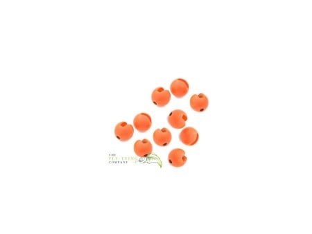 Fluoro Orange Slotted Tungsten Beads