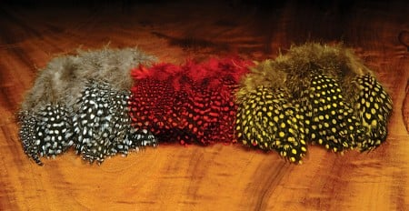 Strung Guinea Fowl Feathers